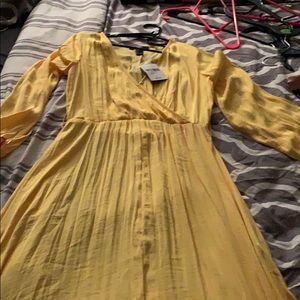 Forever 21 flow yellow maxi